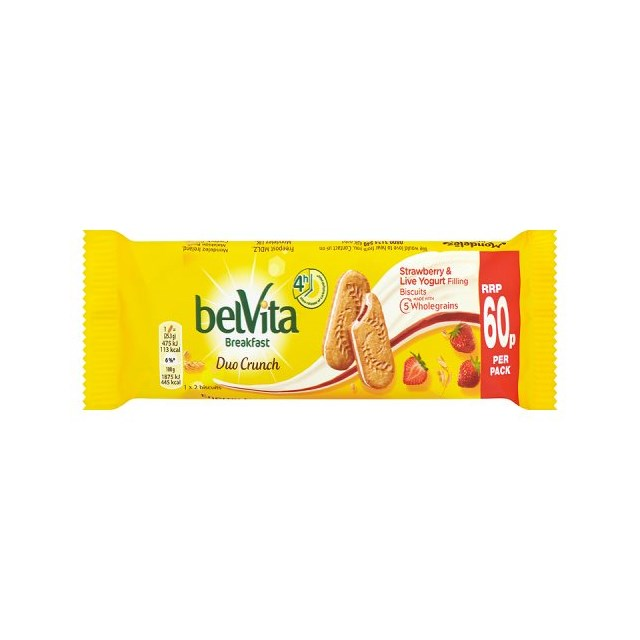 BELVITA CRUNCH STRAWBERRY 50g 60p (18 PACK)