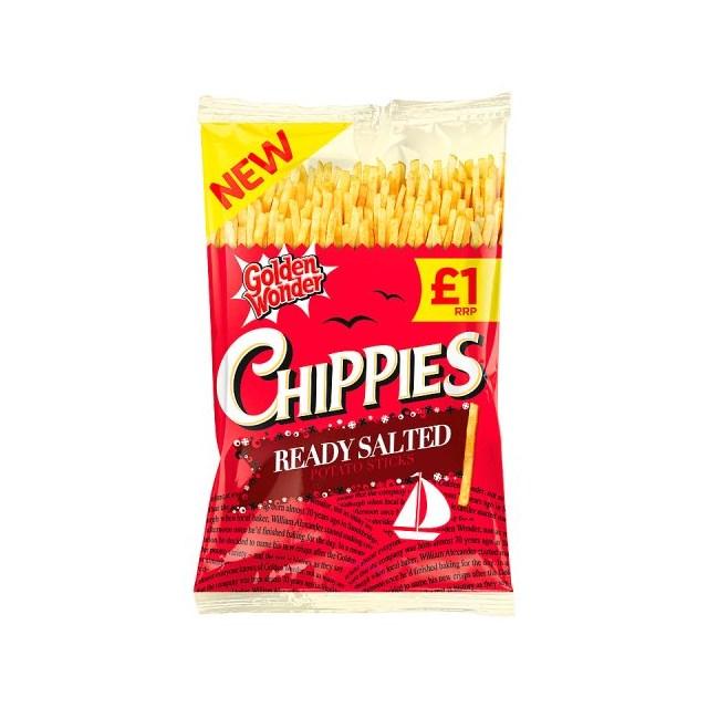 GOLDEN WONDER £1 CHIPPIES READY SALTED