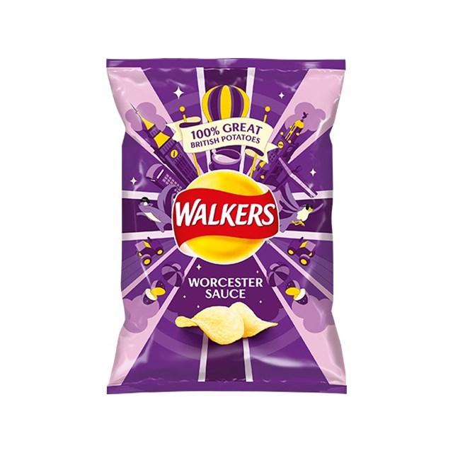 WALKERS WORCESTER SAUCE 32.5g Bags (32 PACK)