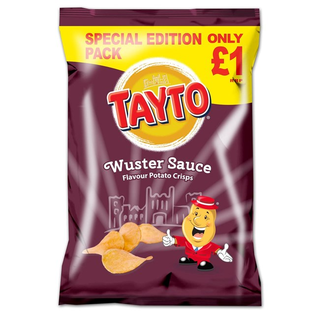 TAYTO £1 WUSTER SAUCE 80g (16 PACKS)