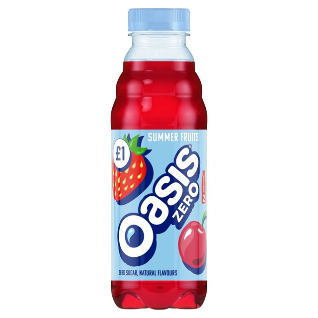 OASIS £1.09 or 2 For £2 SUMMER FRUITS ZERO
