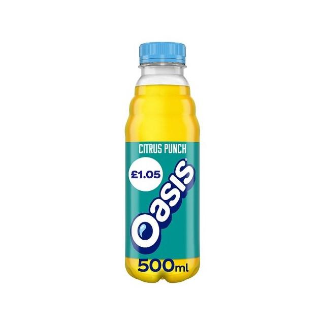 OASIS CITRUS PUNCH 500ml £1 (12 PACK)
