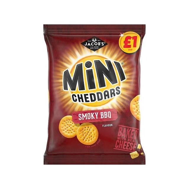MINI CHEDDARS £1 SMOKY BBQ 125g (12 PACK)