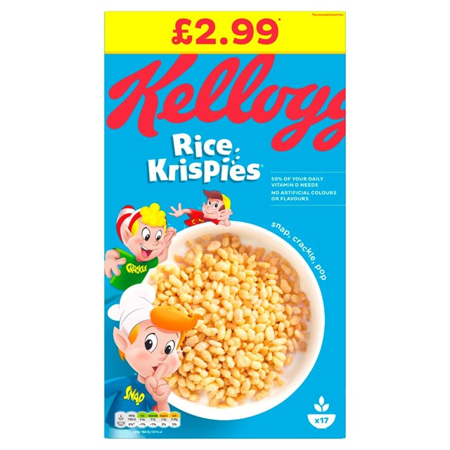 *KELLOGGS £2.99 RICE KRISPIES