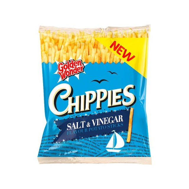 GOLDEN WONDER CHIPPIES SALT & VINEGAR