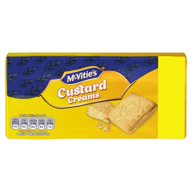 MCVITIES  CUSTARD CREAMS £1