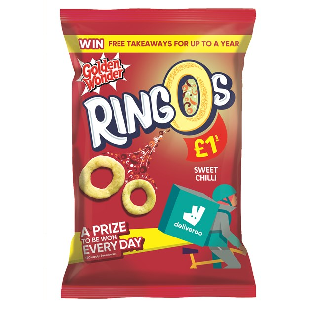GOLDEN WONDER RINGOS SWEET CHILLI 55g £1 (15 PACK)