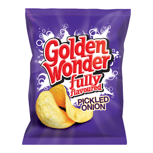 GOLDEN WONDER PICKLED ONION 32.5g (32 PACK) 29 MAY DATED
