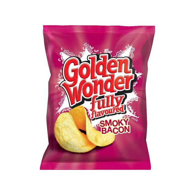 GOLDEN WONDER SMOKEY BACON 48's