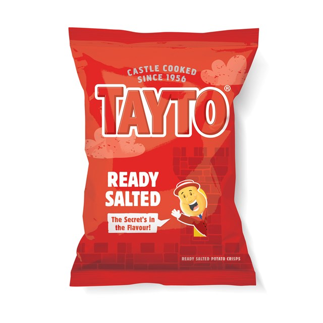 TAYTO READY SALTED CRISPS 37g (32 PACK) 23 JANUARY DATED