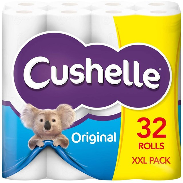 CUSHELLE TOILET ROLL 32PACK 1 CASE LIMIT