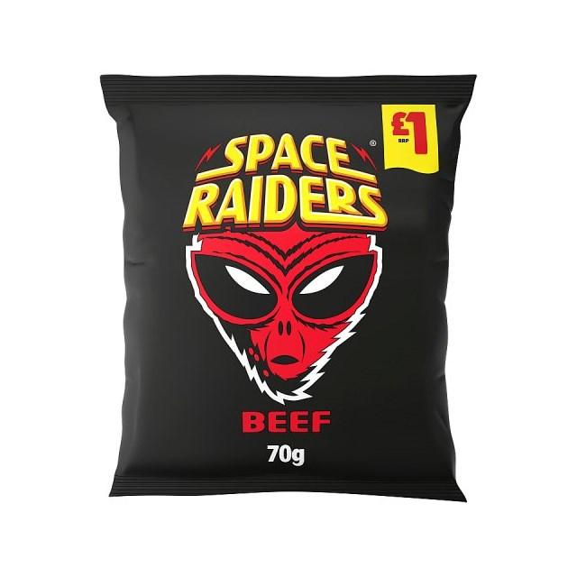SPACE RAIDERS BEEF 70g £1 (16 PACK)