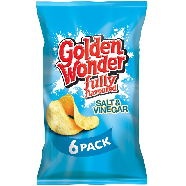 GOLDEN WONDER MULTIPACK SALT & VINEGAR (16 x 6 PACK)
