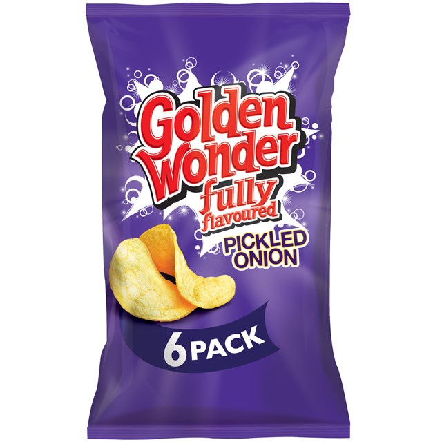 GOLDEN WONDER Multipack PICKLED ONION (16 x 6 Pack)