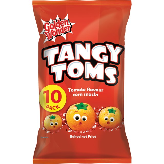 GOLDEN WONDER TANGY TOMS 25g (20 x 10  PACK)