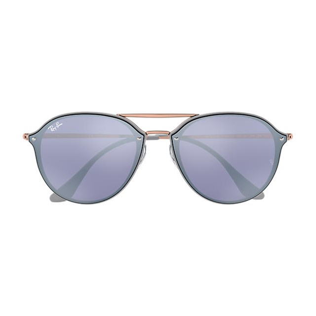 RAY BAN SUNGLASSES DOUBLE BRIDGE VIOLET 63261U