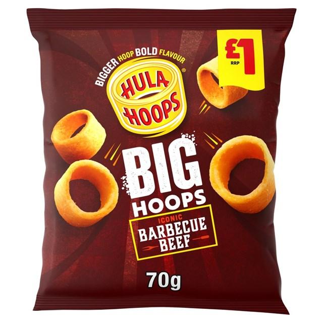 HULA HOOPS BBQ BEEF 80g £1 (16 PACK)
