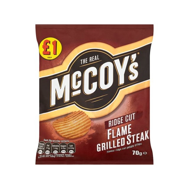 MCCOYS £1 FLAME GRILLED STEAK