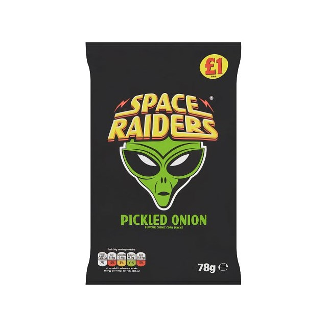 SPACE RAIDERS PICKLED ONION 78g £1 (16 PACK)