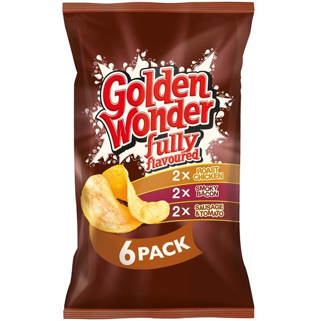 GOLDEN WONDER MULTIPACK MEATY