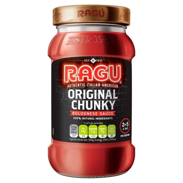 RAGU CHUNKY BOLOGNESE SAUCE