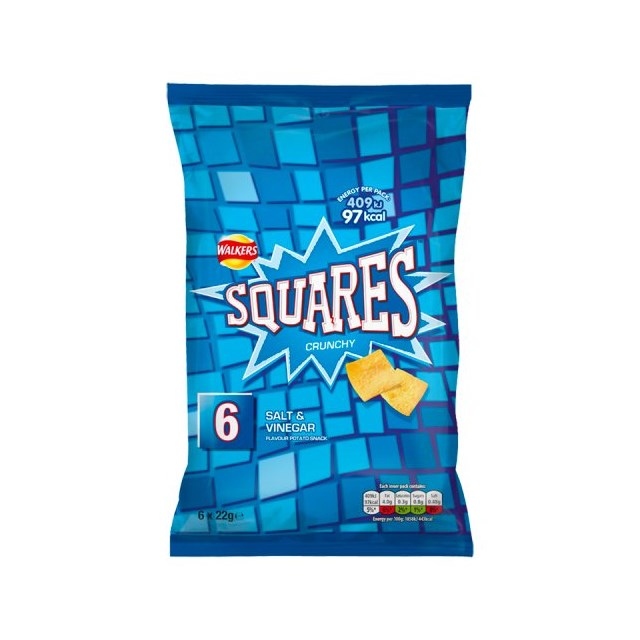 WALKERS 6PACK SQUARES SALT & VINEGAR
