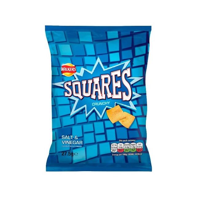SQUARES SALT & VINEGAR 27.5g (32 PACK)