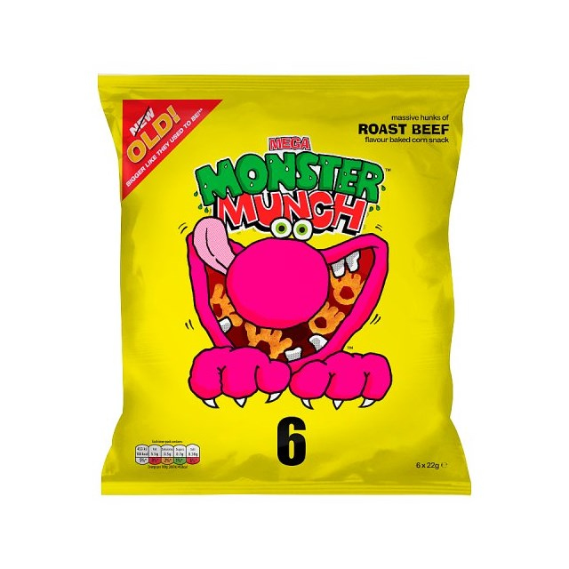 WALKERS 6PACK MONSTER MUNCH BEEF
