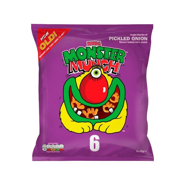 WALKERS 6PACK MONSTER MUNCH PICKLED ONION