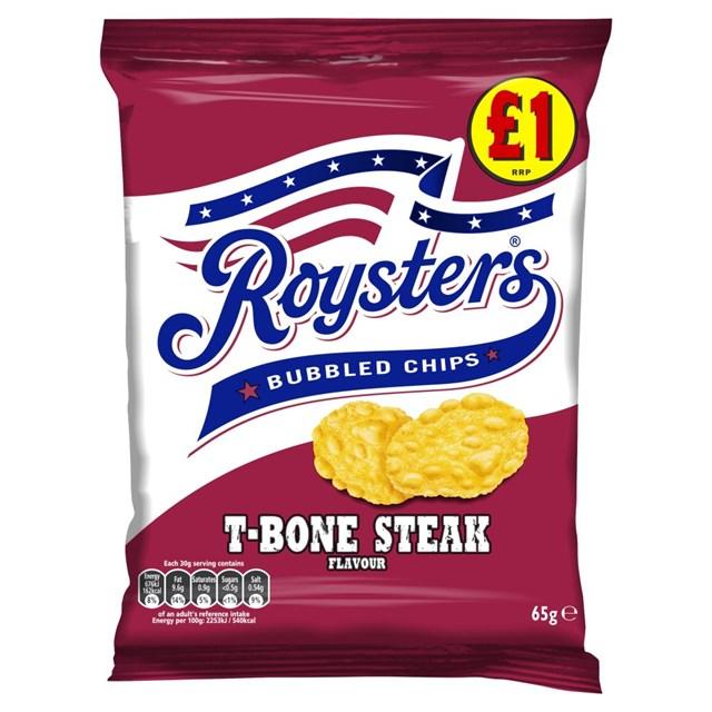 ROYSTERS T-BONE STEAK 90g £1 (16 PACK)