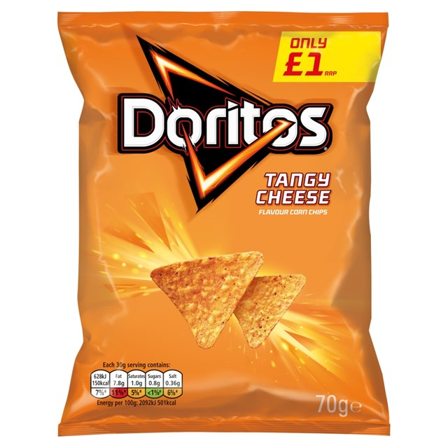 WALKERS DORITOS £1 TANGY CHEESE
