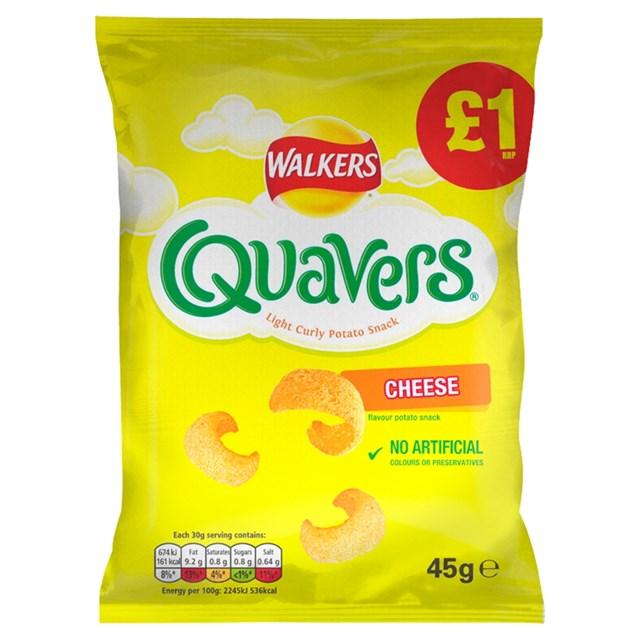 WALKERS £1 QUAVERS