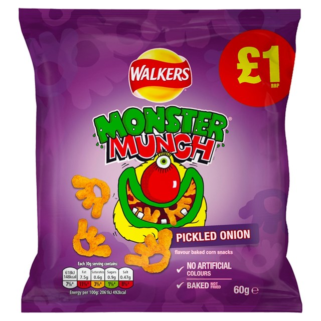 WALKERS MONSTER MUNCH £1 PICKLED ONION