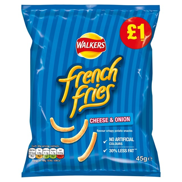 WALKERS £1 FRENCH FRIES CHEESE & ONION