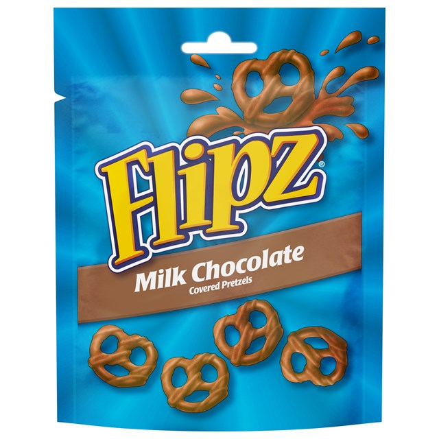 FLIPZ MILK CHOCOLATE PRETZELS 90g (6 PACK0