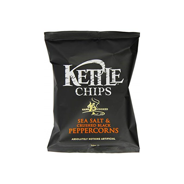 KETTLE CHIPS BLACK PEPPER