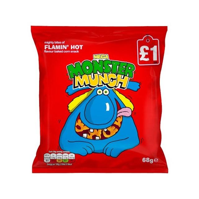 MONSTER MUNCH £1 FLAMIN HOT