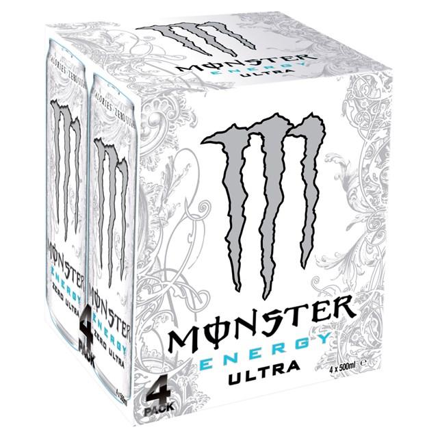 MONSTER ENERGY DRINK ULTRA WHITE 500ml 6 x 4PACK