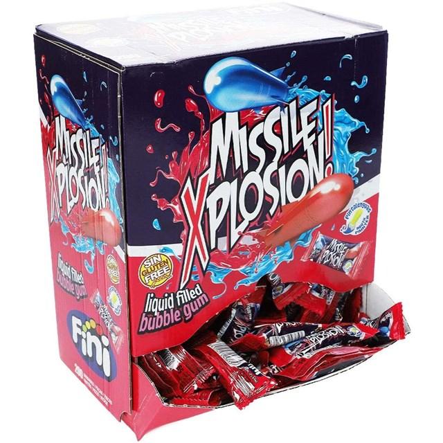 FINI MISSILE XPLOSION  BUBBLE GUM 200 x 5p GLUTEN FREE