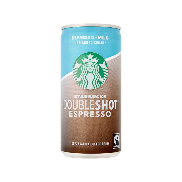 STARBUCKS DOUBLE SHOT ESPRESSO CANS NO ADDED SUGAR 200ml (12 PACK)