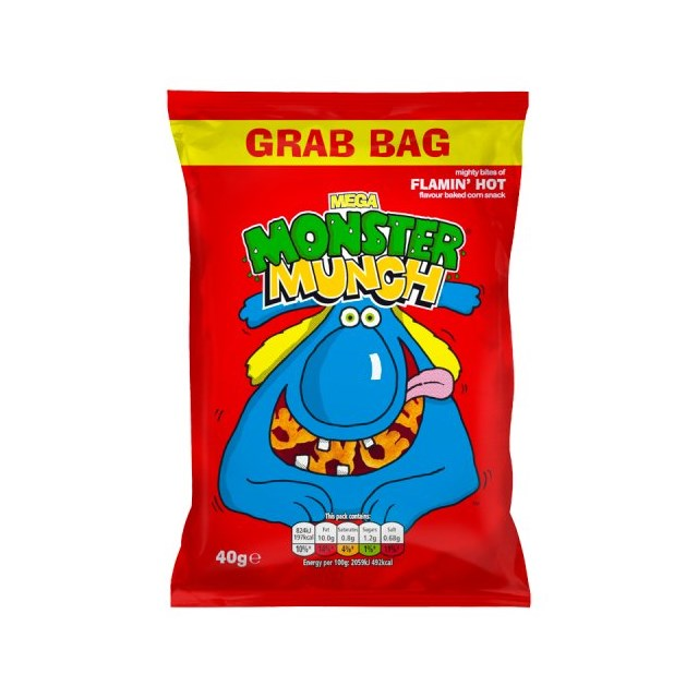 MONSTER MUNCH BIG GRAB BAG FLAMIN HOT