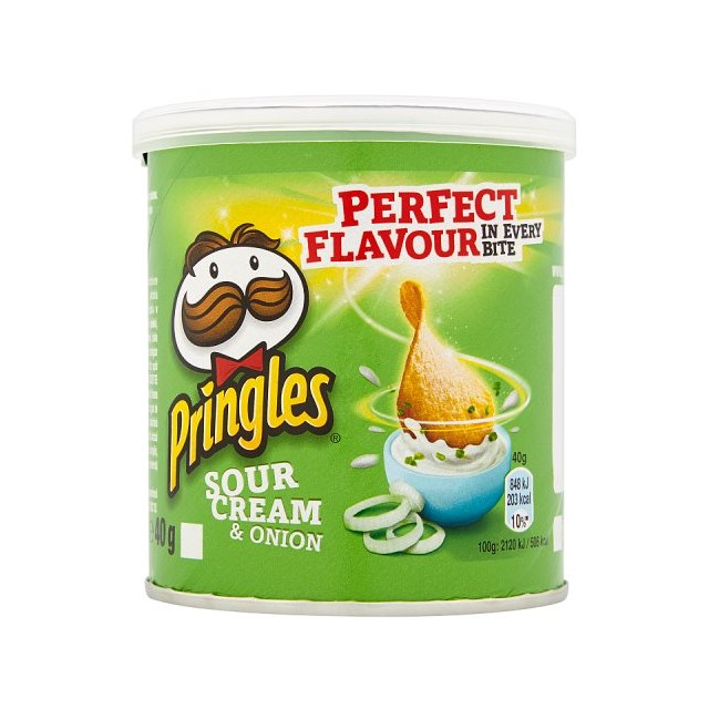PRINGLES SOUR CREAM & ONION 40g (12 PACK)