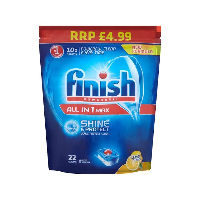 FINISH ALL IN ONE £4.99 DISHWASHER TABLETS