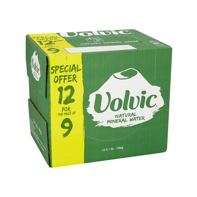 VOLVIC 1.5LTR 12FOR9 FLASH PACK