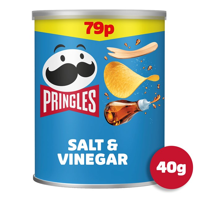 PRINGLES SALT & VINEGAR 40g 69p (12 PACK)
