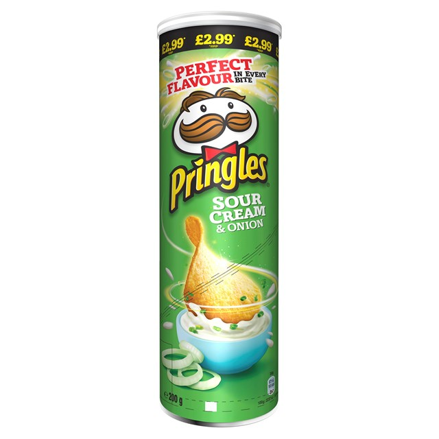 PRINGLES SOUR CREAM 180G £2.99 (6 PACK)