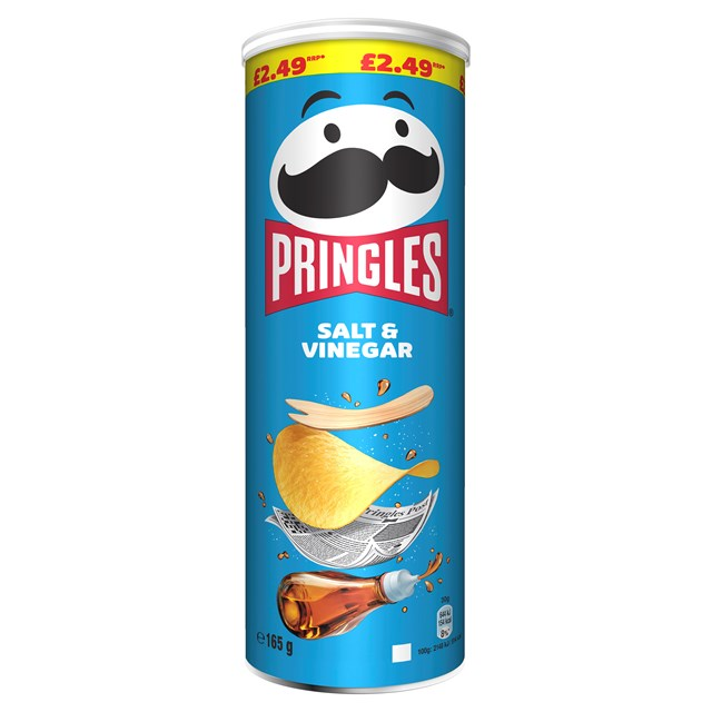 PRINGLES £2.49 SALT & VINEGAR