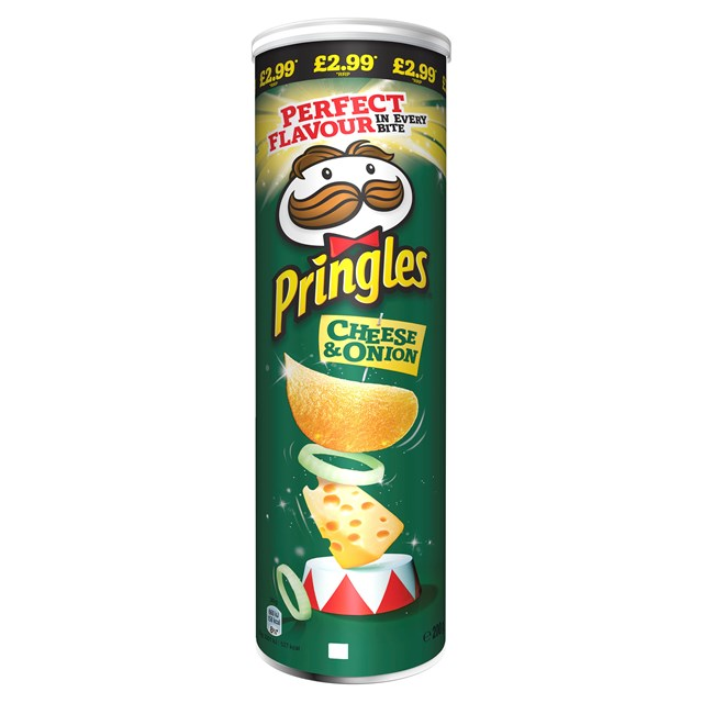 PRINGLES CHEESE & ONION 180G £2.99 (6 PACK)