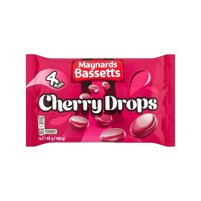BASSETTS CHERRY DROPS 4PACK