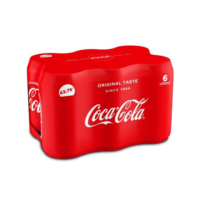 COCA COLA 330ml CANS  £3.75 (4 x 6 PACK)
